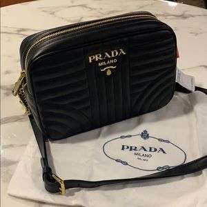 Brand New, Prada Diagramme Quilted Crossbody